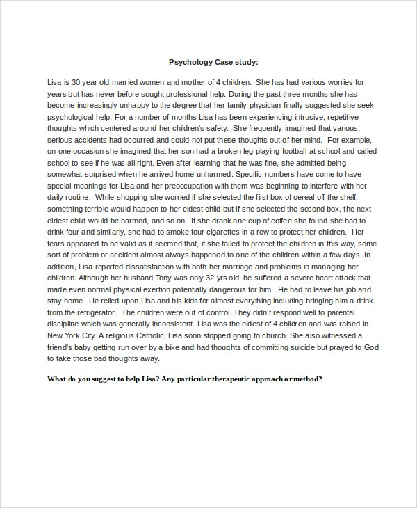 psychological case study template download