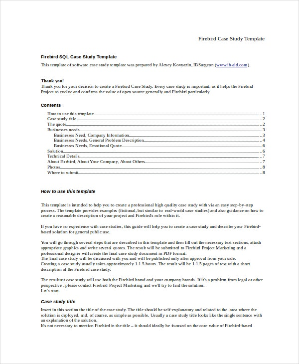 firebird case study template