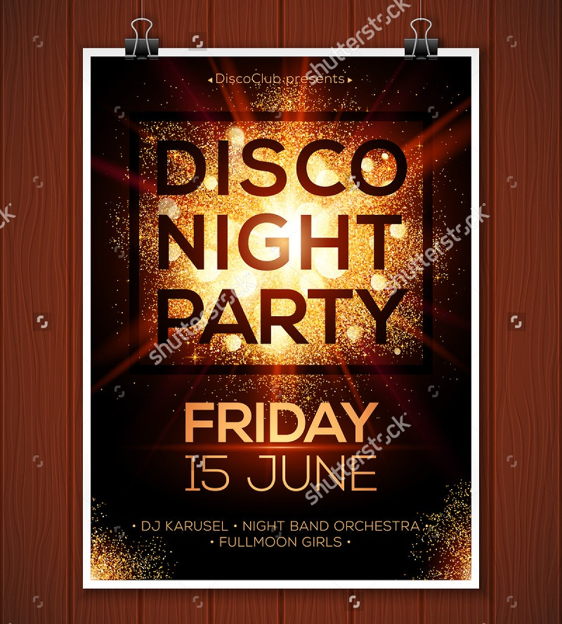 Night Party Vector Poster Template