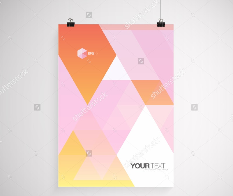 minimal colorful poster mockup