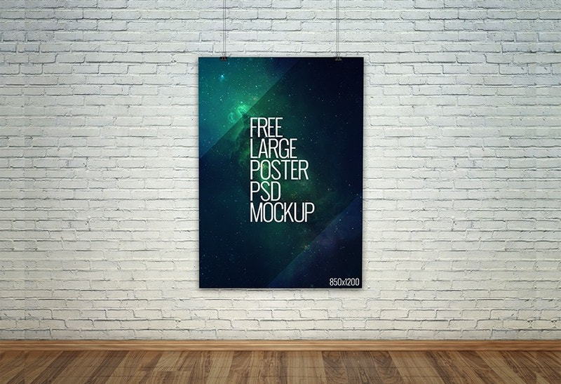 Free Large Poster PSD Mockup