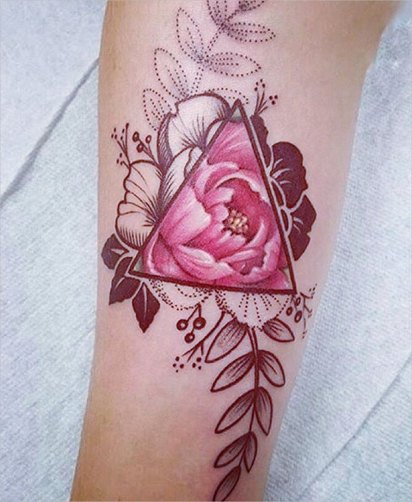 flower geometric tattoo