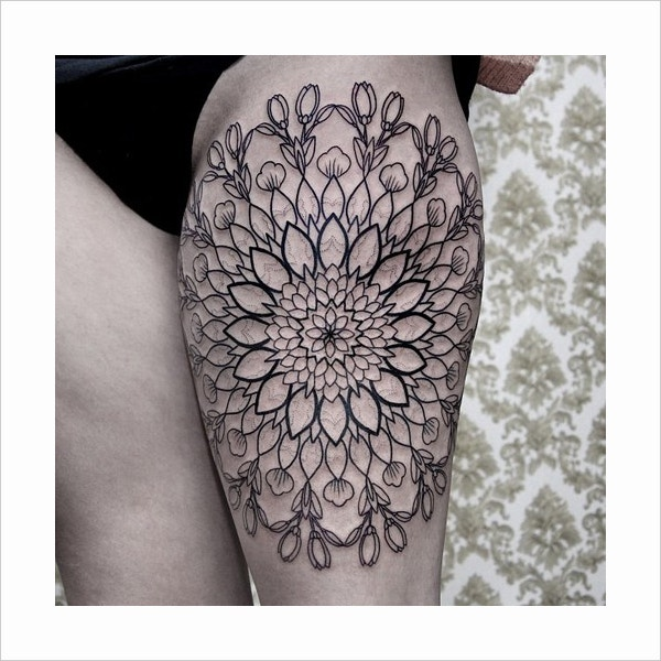 Flower Pattern Geometric Tattoo