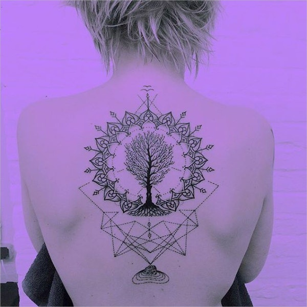 Geometric Tree Tattoo