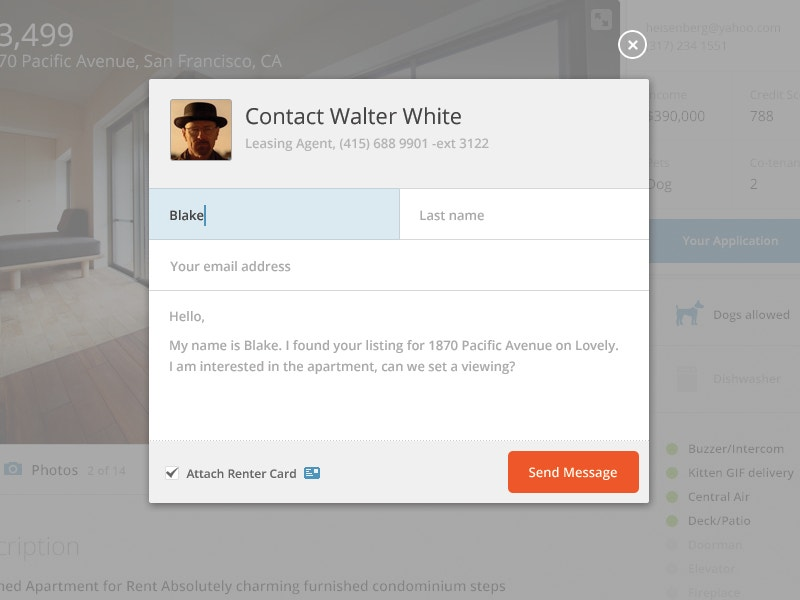 Contact Modal Form