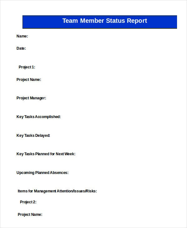Status Report Template - 10+ Free Word, PDF Documents Download ...