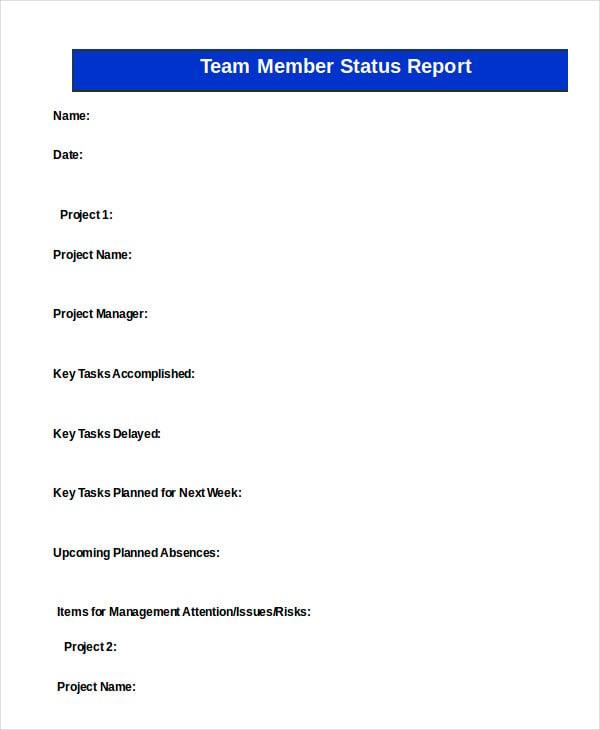 team-member-status-report