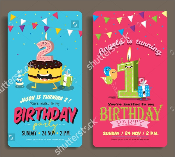 birthday party invitation card template2