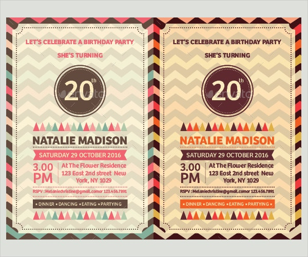 birthday party invitation template2