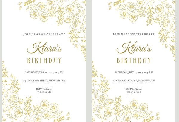 Printable Birthday Invitation Template Download