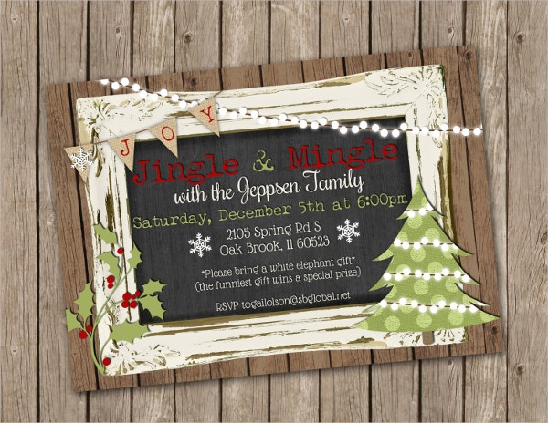 chalkboard christmas party invitation2