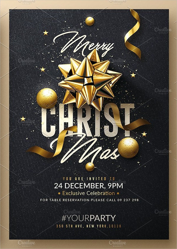 Christmas Invitation Card Template