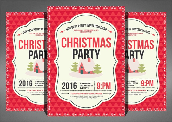 Christmas Party Flyer And Invitation