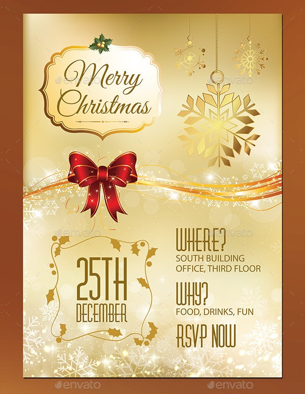 21 Christmas Party Invitation Templates Free PSD Vector AI – Christmas Party Invitation Card