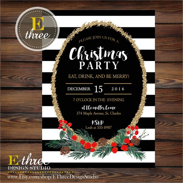 Christmas Party Invitation Templates Free PSD Vector AI EPS - Party invitation template: office christmas party invite template