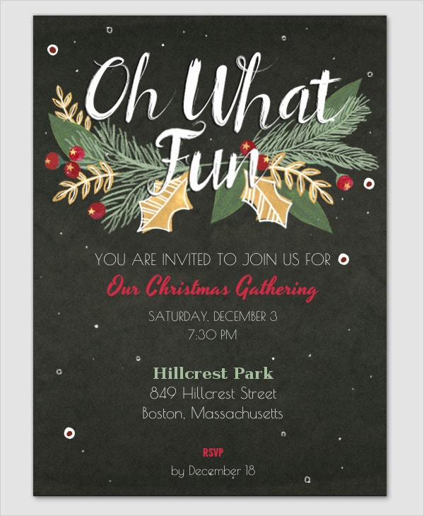Premim Christmas Party Invitation Template