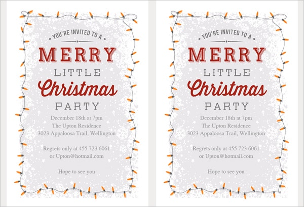 Printable Christmas Invitation Template