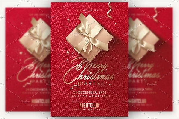 Red Christmas Party Invitation