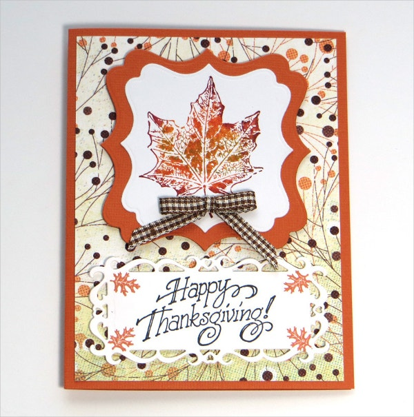 autumn happy thanksgiving card