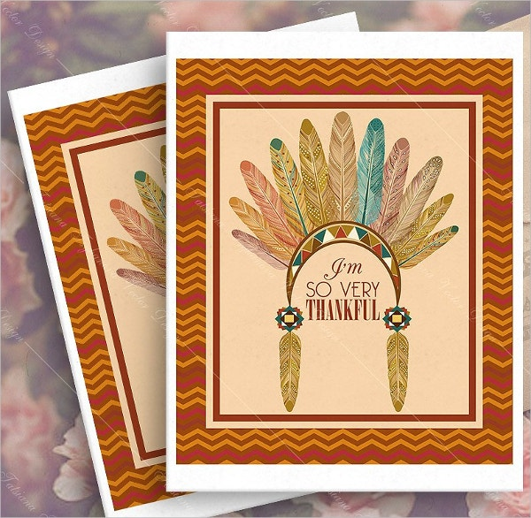 autumn leaves happy thanksgiving day greeting card