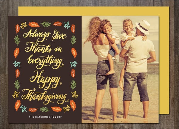 family thanksgiving card