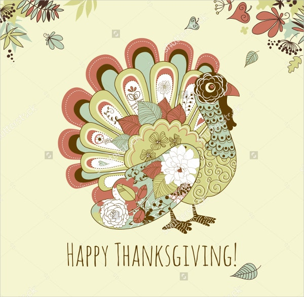 Happy Thanksgiving Beautiful Turkey Card