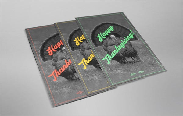 happy turkeys thanksgiving card
