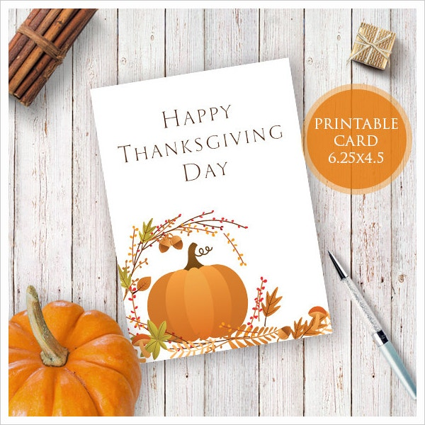 One Sided Thanksgiving Card