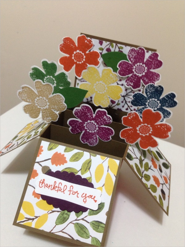 Pop Up Happy Thanksgiving Card
