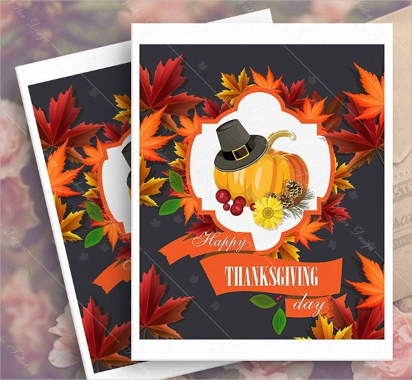 printable happy thanksgiving day greeting card