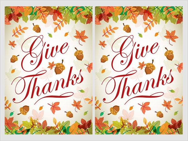 Printable Thanksgiving Greeting Card