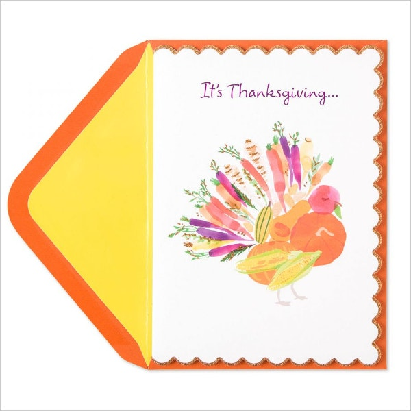 Veggie Turkey Thanksgiving Card