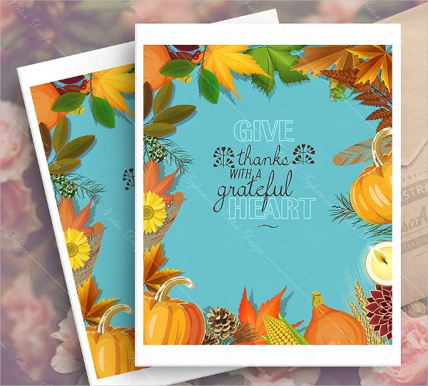 vintage happy thanksgiving day greeting card
