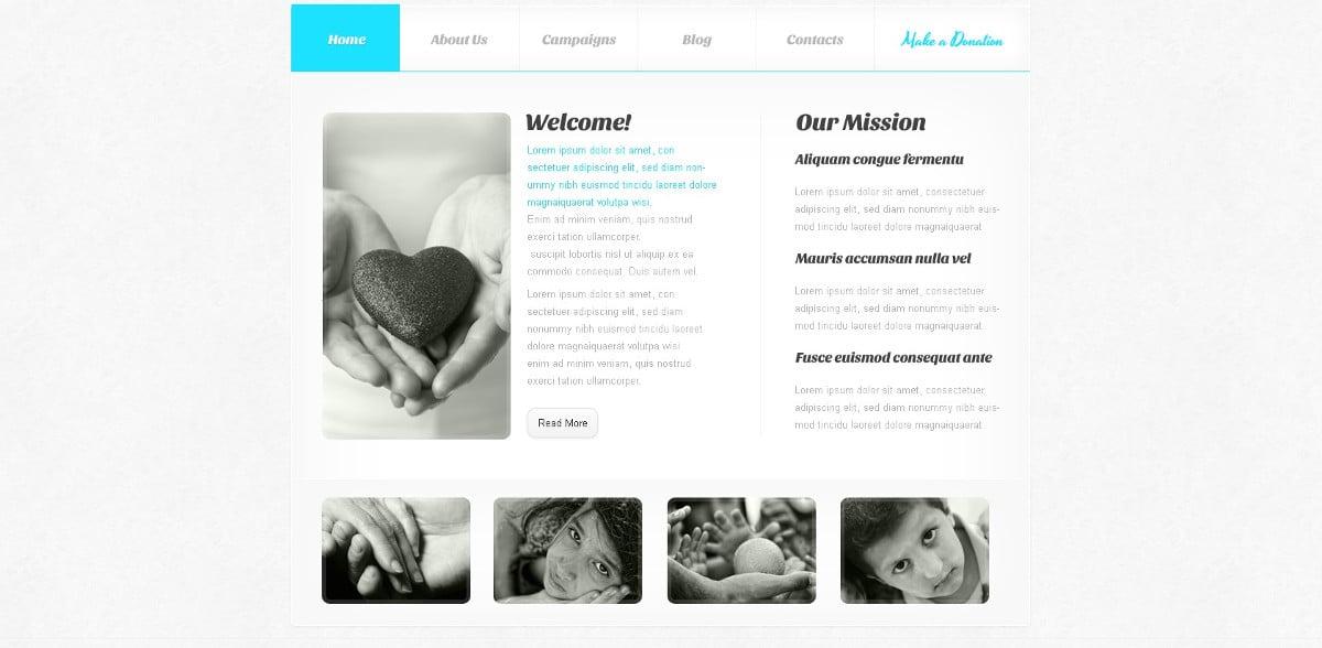 minimalism charity joomla template 67