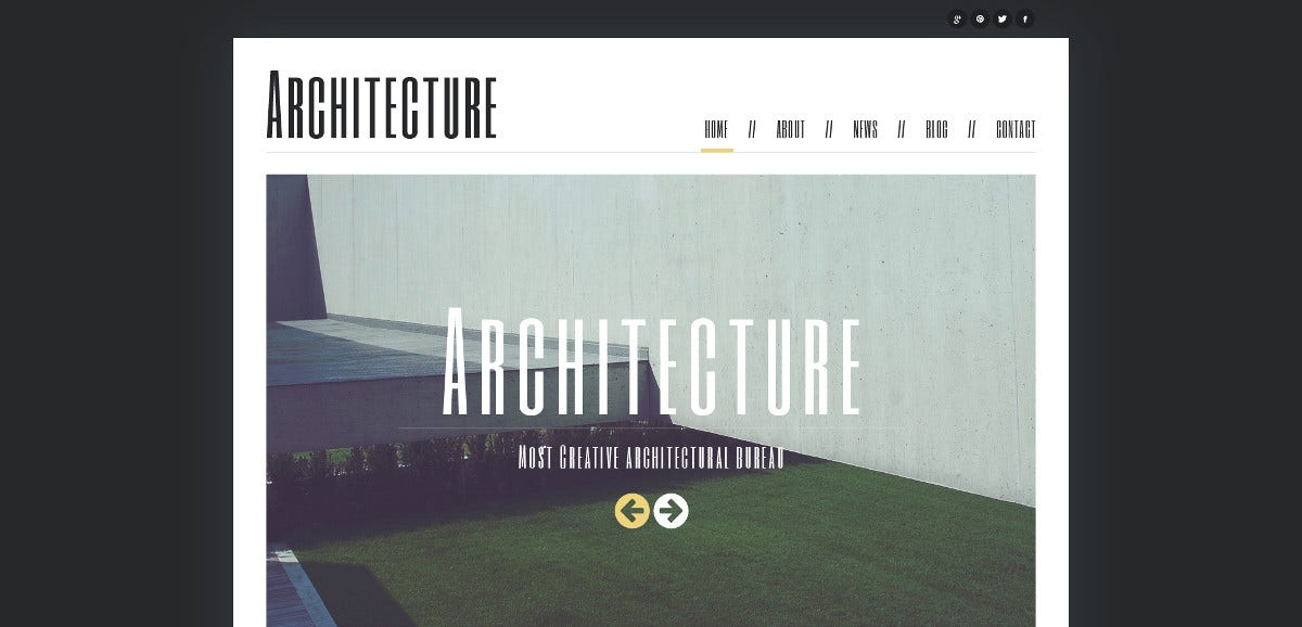 minimalism architecture joomla template 751