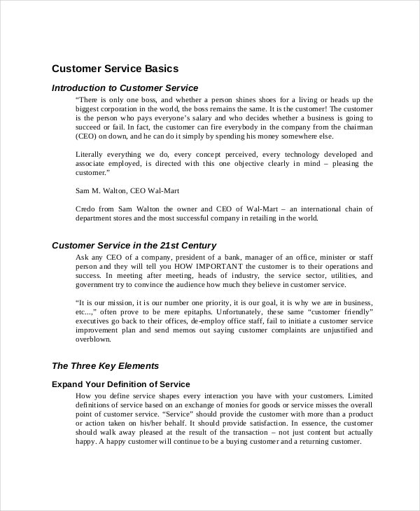 Customer Service Training Manual Template