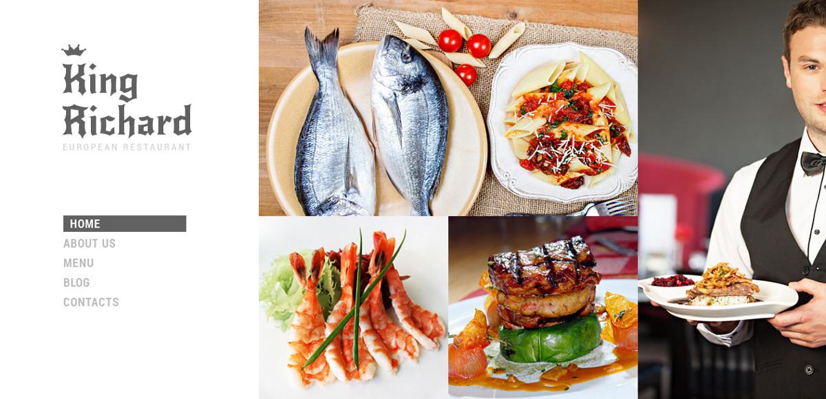 minimal restaurant meal joomla template 75