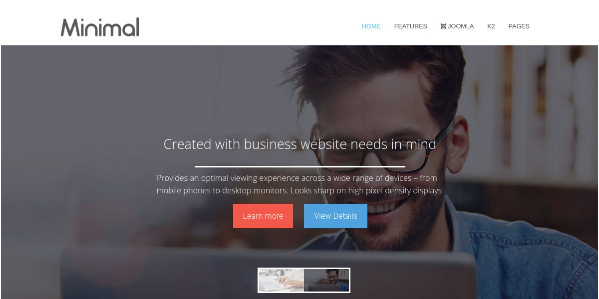 creative responsive business joomla template