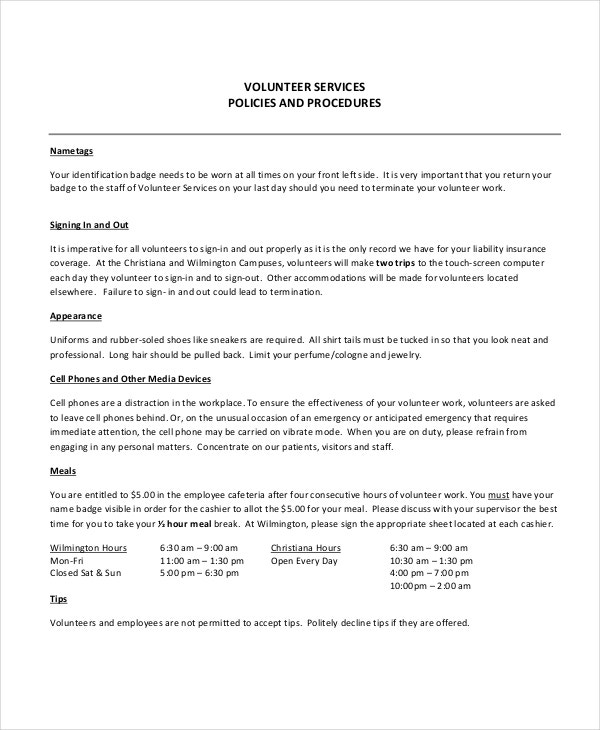 Procedure Manual Template Employment Manual Microsoft Word Manual
