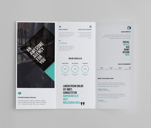 Business Tri-Fold Brochure Template