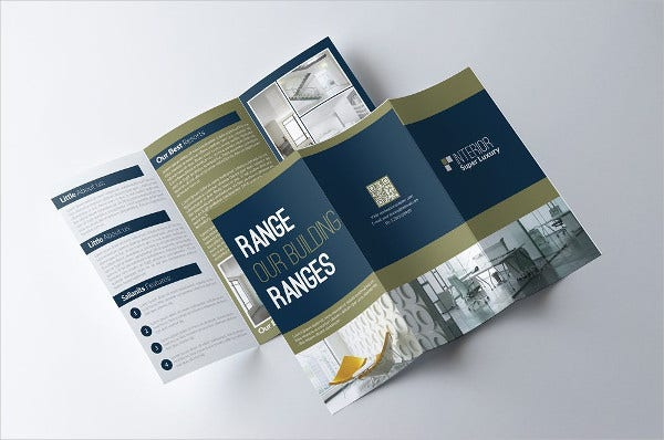 Editable Business Tri Fold Brochure