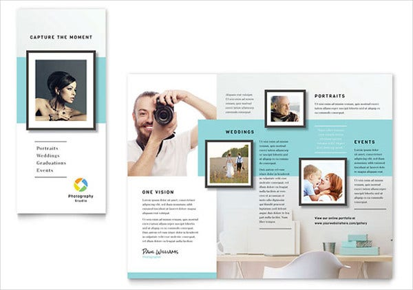 Photographer Tri Fold Brochure Template