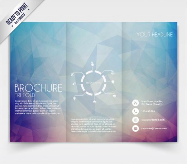 Tri fold brochure Free Vector