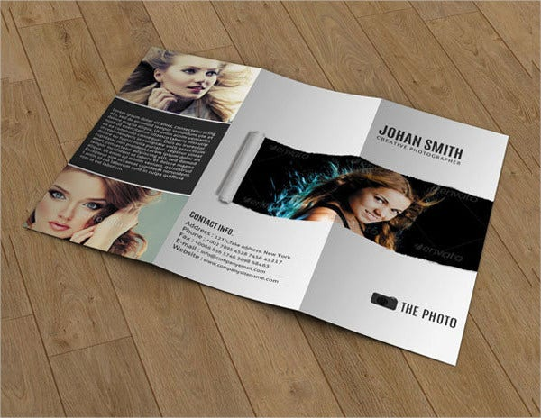 Tri-fold Photography Brochure Template