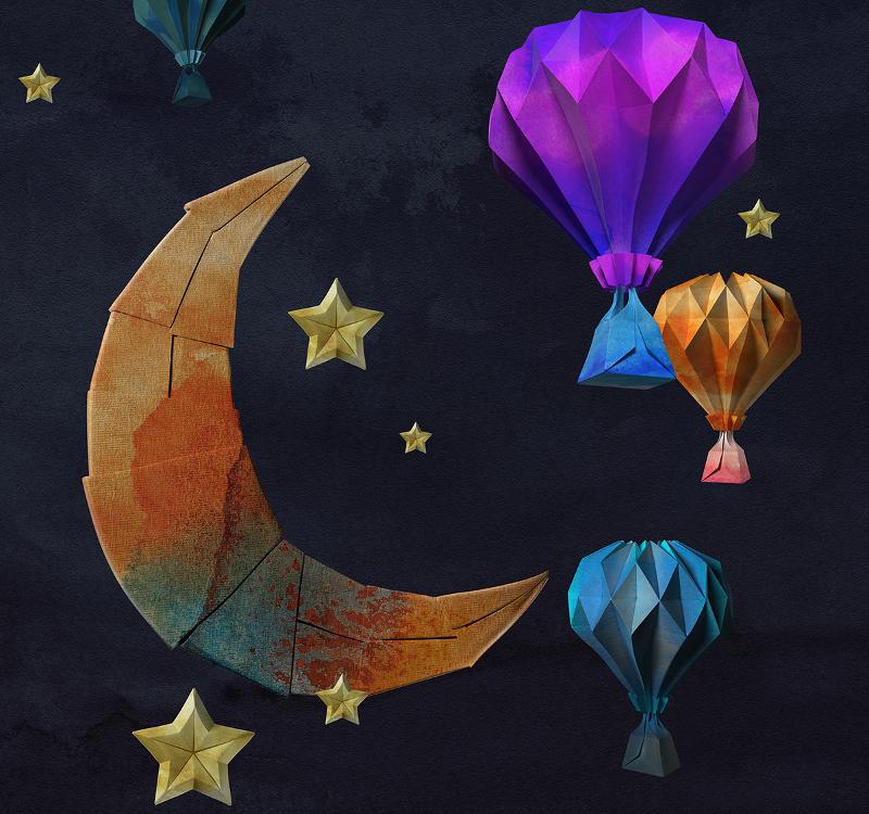 paper art balloons