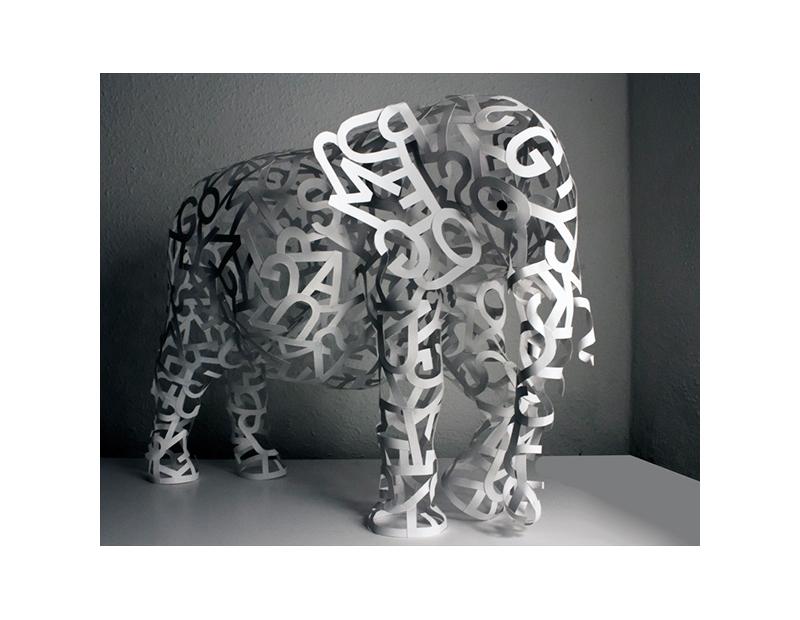 Hand Made Paper Elephant