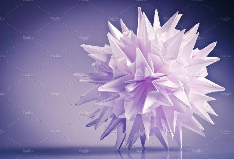 conceptual white origami unit