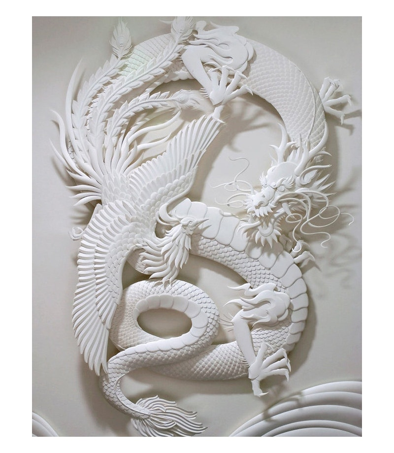 3D paper sculpture by Jeff Nishinaka's