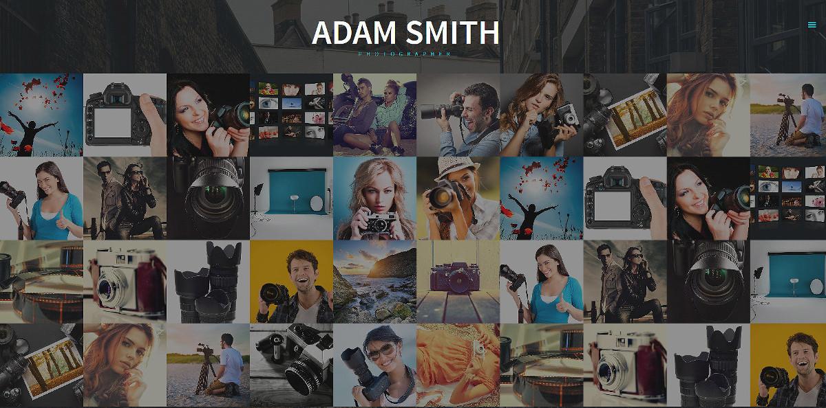 minimal photographer portfolio joomla template 75