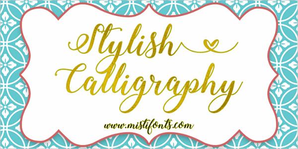 Stylish Calligraphy Demo font
